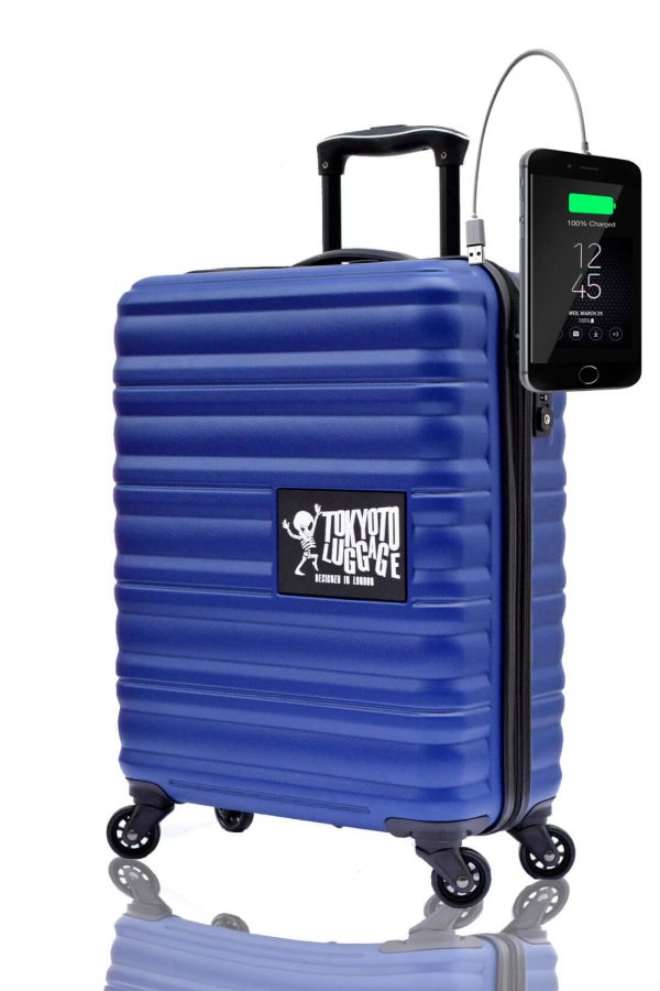 Children Cabin Hand Luggage Carry On Trolley Suitcase BLUE MARINE