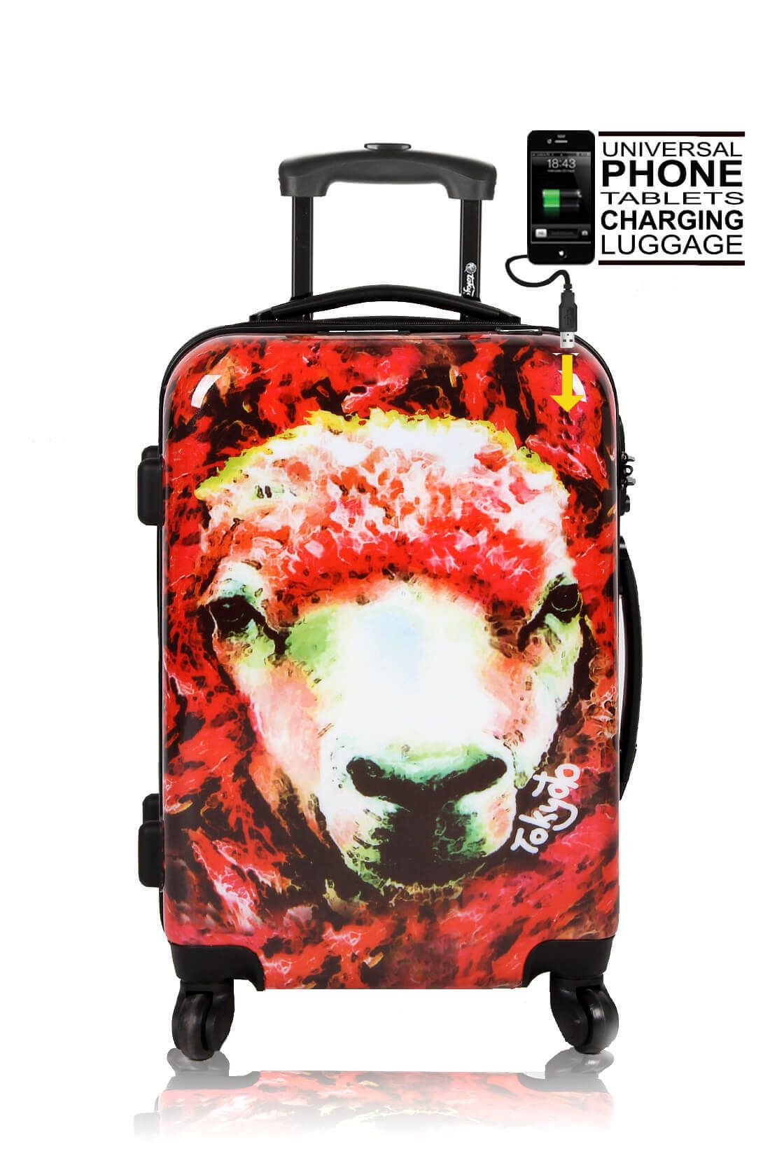 04d70890467a55 Hand trolley Smartphone Charger RED SHEEP - TOKYOTO