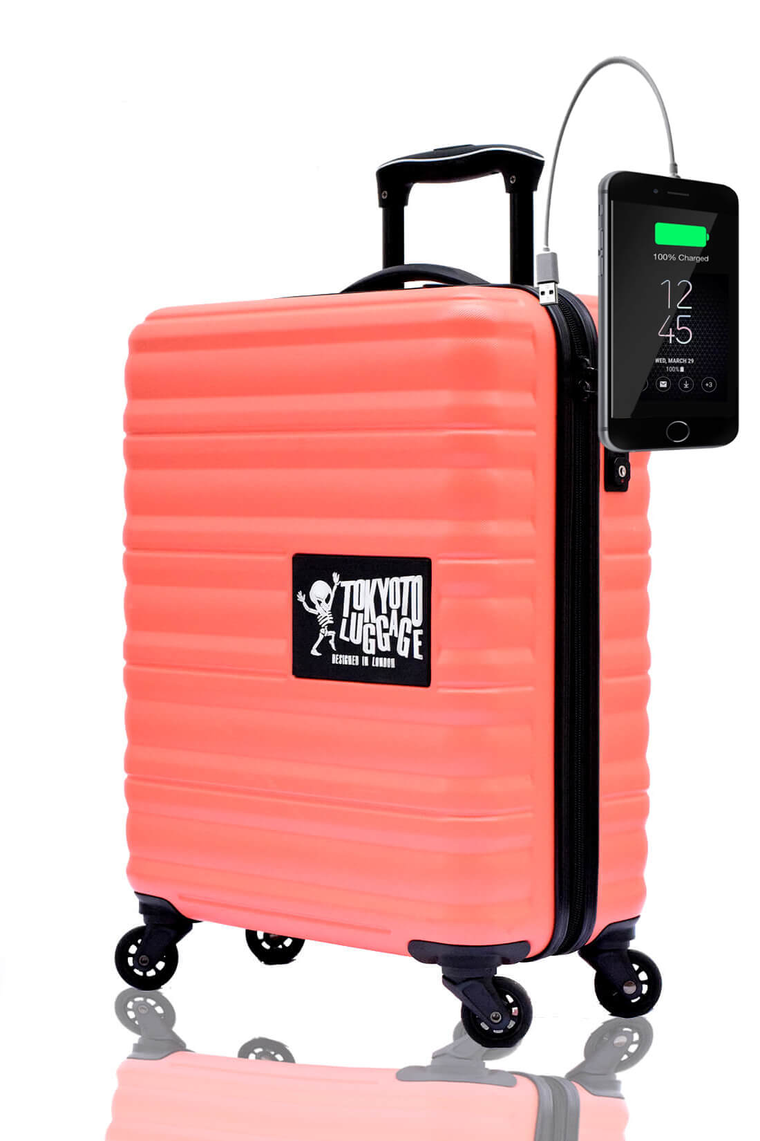 Unicolores Valise Online Cabine Trolley Enfant TOKYOTO LUGGAGE Modelle CORAL