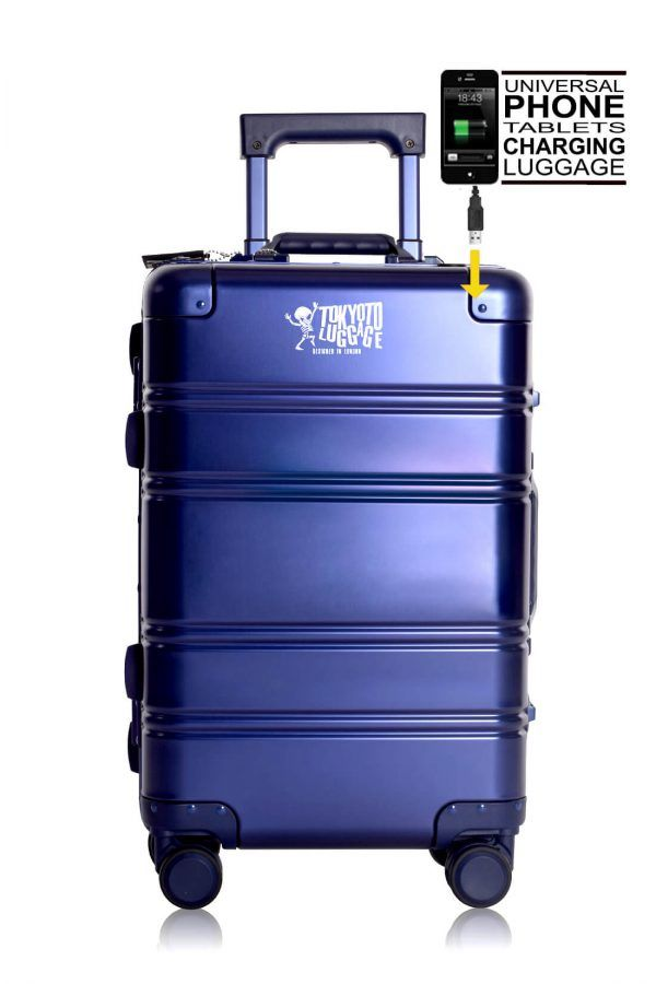 Aluminum Suitcase Trolley Cabin Luggage Front Logo 1