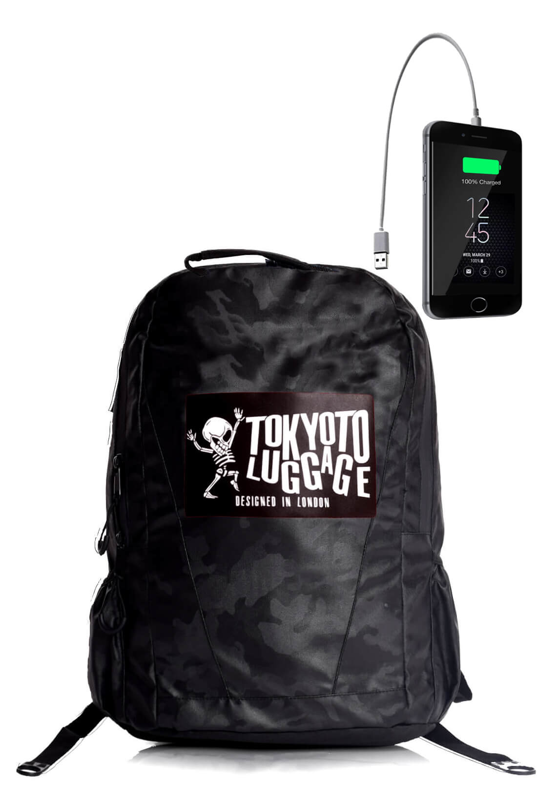 Backpack Urban Led Light with Powerbank CAMOUFLAGE