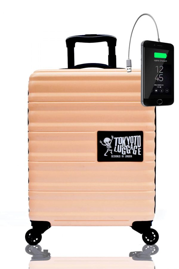 Children Cabin Hand Luggage Carry On Trolley Suitcase BEIGE