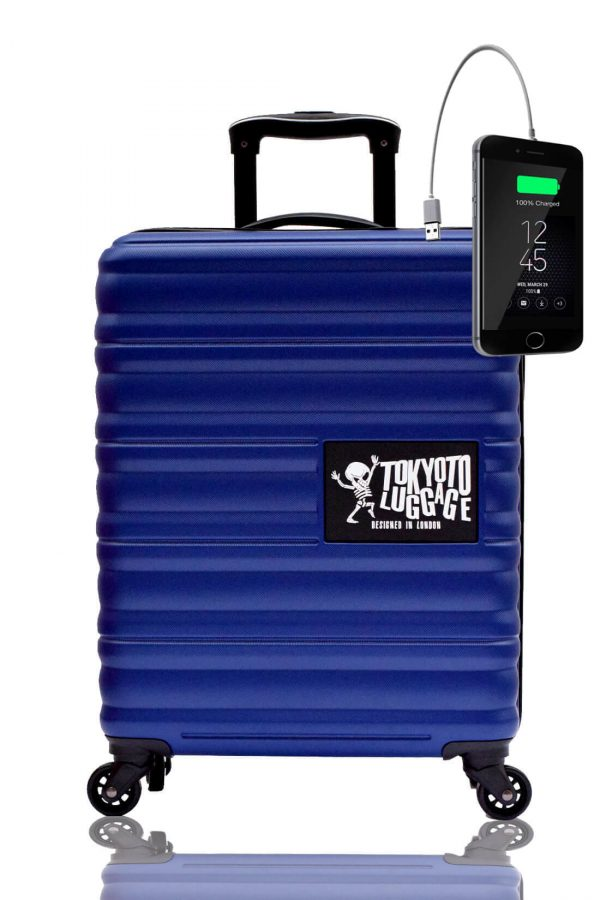 Children Cabin Hand Luggage Carry On Trolley Suitcase BLUE MARINE (2)