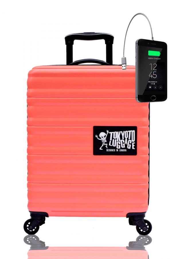 Children Cabin Hand Luggage Carry On Trolley Suitcase CORAL