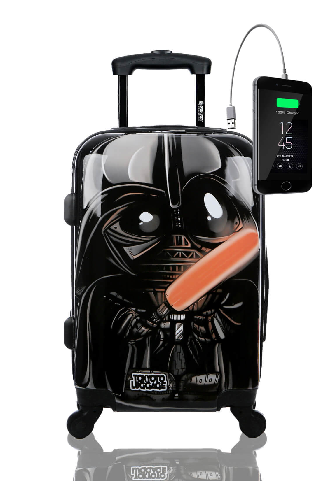 Childrens Kids Cabin Hand Luggage Carry On Trolley Suitcase BLACK EMPIRE