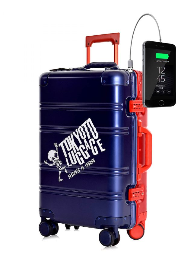 Full Aluminum Suitcase Cabin Size Carry-on Luggage Trolley BLUE RED