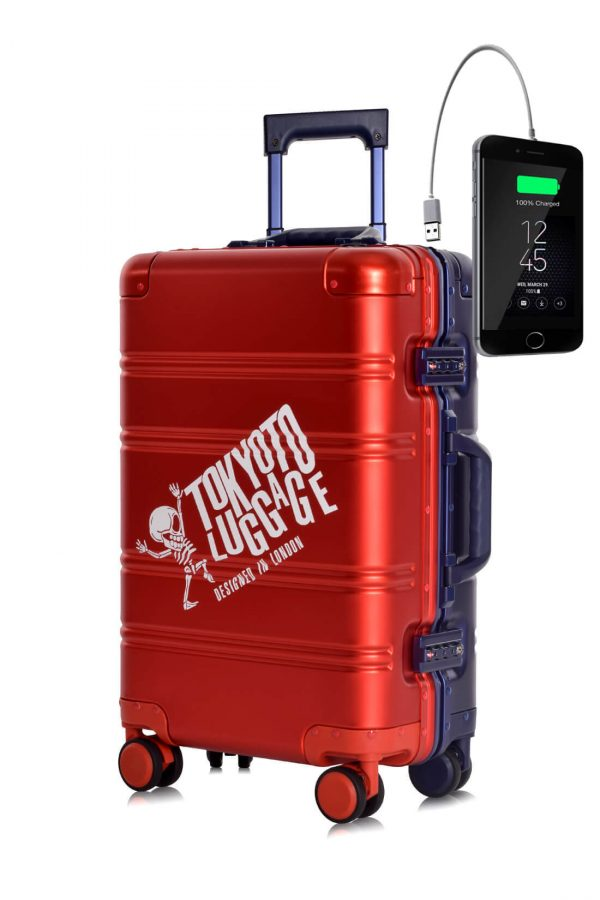 Full Aluminum Suitcase Cabin Size Carry-on Luggage Trolley RED BLUE