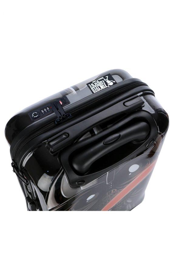 Kindertrolley Kindergepäck Reisekoffer Hartschalen-Koffer Trolley Rollkoffer Reisekoffer mit TSA-Schloss und 4 Rollen BLACK EMPIRE 3 (2)
