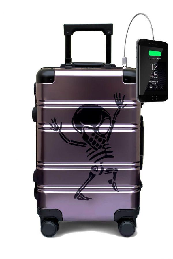 Aluminum Suitcase Trolley Cabin Luggage 8