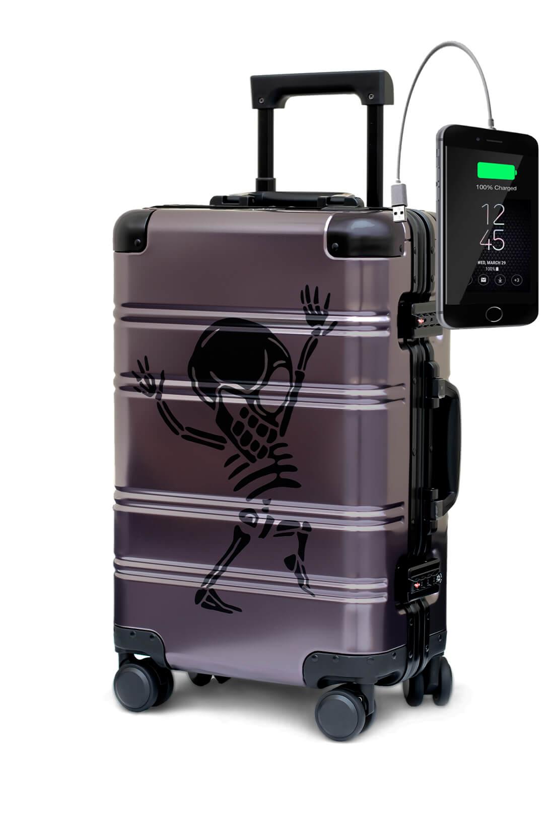 Aluminum Suitcase Trolley Cabin Luggage Money Heist 2